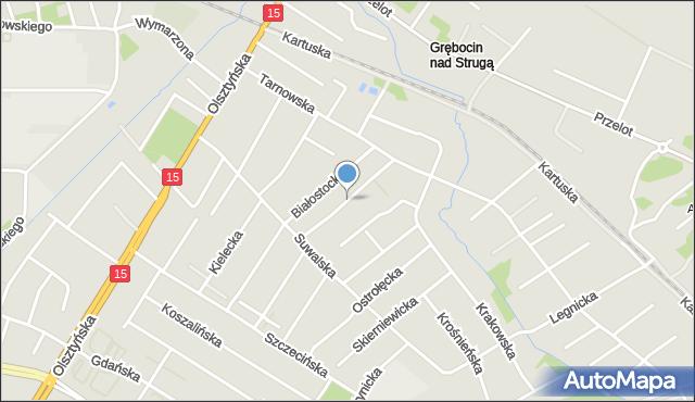Toruń, Gorzowska, mapa Torunia