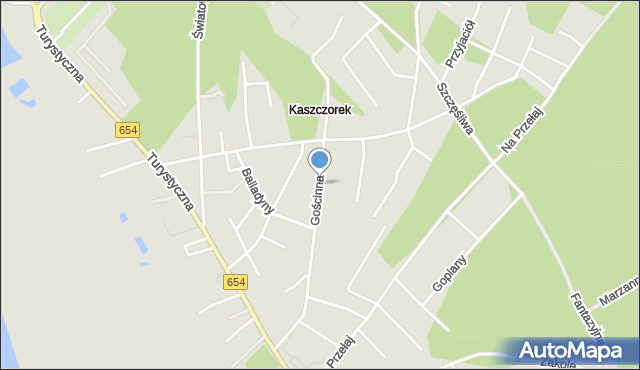 Toruń, Gościnna, mapa Torunia