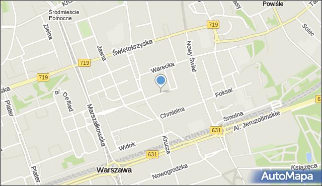 Warszawa, Górskiego Wojciecha, mapa Warszawy
