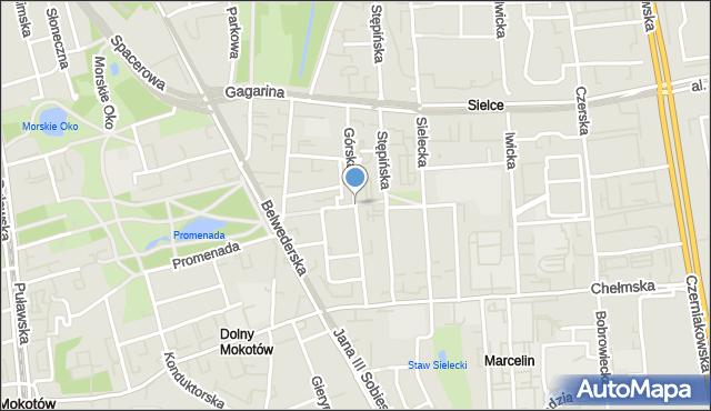 Warszawa, Górska, mapa Warszawy