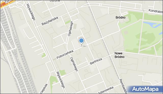 Warszawa, Goworowska, mapa Warszawy