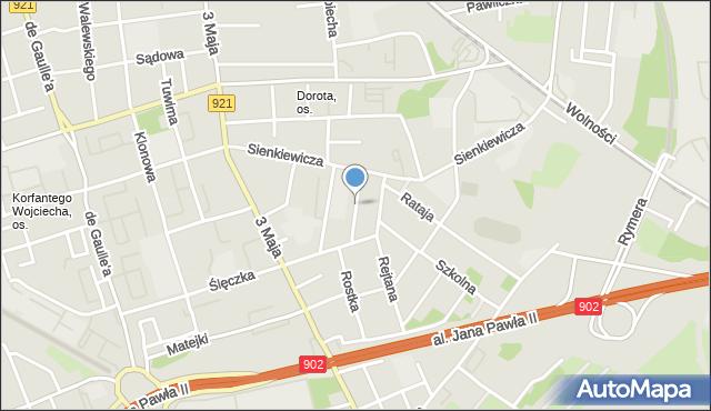Zabrze, Górnośląska, mapa Zabrza