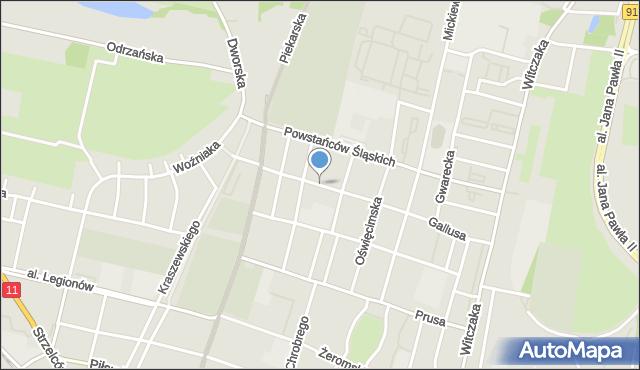 Bytom, Grottgera Artura, mapa Bytomia