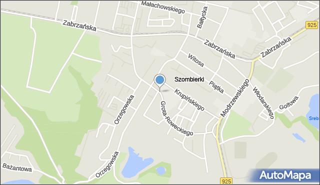Bytom, Grota-Roweckiego Stefana, gen., mapa Bytomia