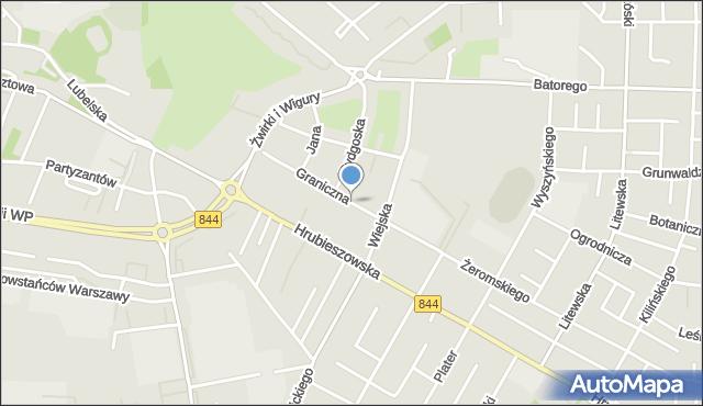 Chełm, Graniczna, mapa Chełma