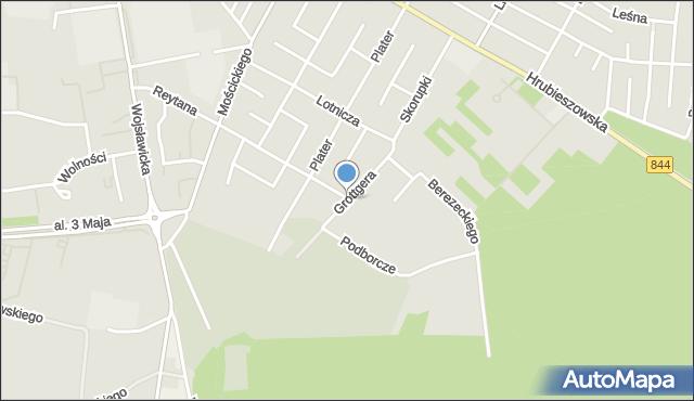 Chełm, Grottgera Artura, mapa Chełma