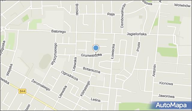 Chełm, Grunwaldzka, mapa Chełma