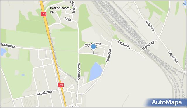 Chorzów, Gruntowa, mapa Chorzów