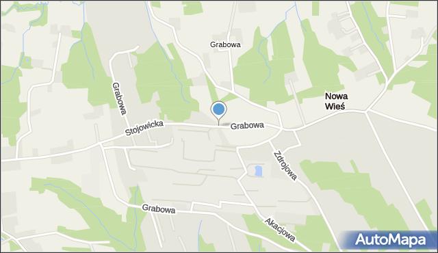 Dobczyce, Grabowa, mapa Dobczyce
