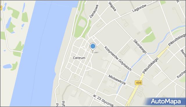 Grudziądz, Groblowa, mapa Grudziądza
