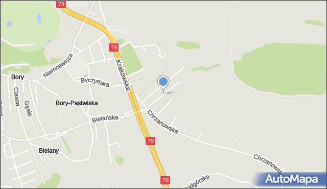 Jaworzno, Grodzka, mapa Jaworzno