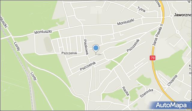 Jaworzno, Gryfitów, mapa Jaworzno