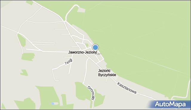 Jaworzno, Grzybowa, mapa Jaworzno