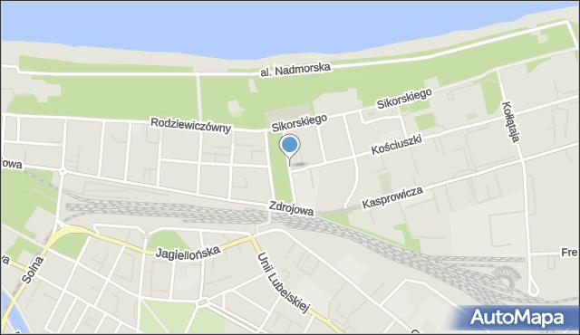 Kołobrzeg, Grottgera Artura, mapa Kołobrzegu