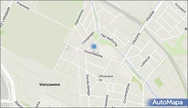 Kraków, Grochowska, mapa Krakowa