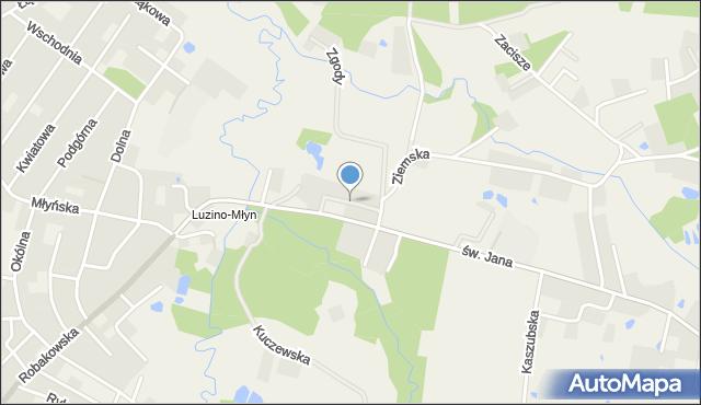 Luzino, Grabskiego, mapa Luzino