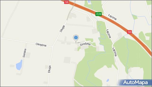 Luzino, Grodzka, mapa Luzino
