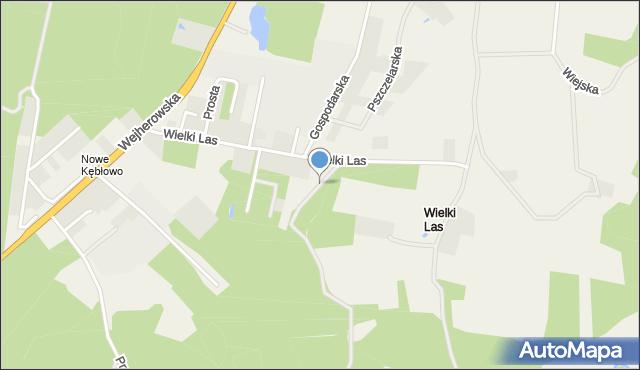 Luzino, Grzybowa, mapa Luzino