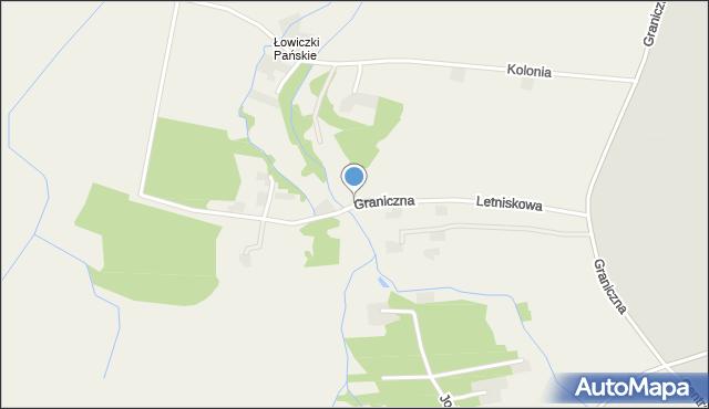 Przeciszów, Graniczna, mapa Przeciszów
