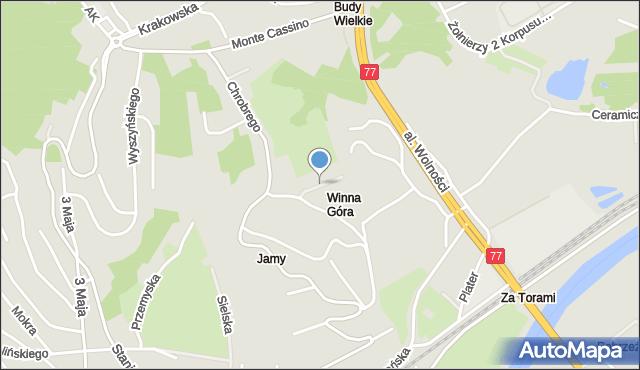 Przemyśl, Grenada, mapa Przemyśla