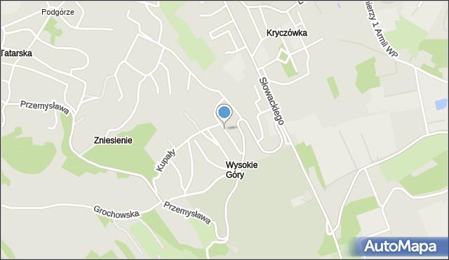 Przemyśl, Grota-Roweckiego Stefana, gen., mapa Przemyśla