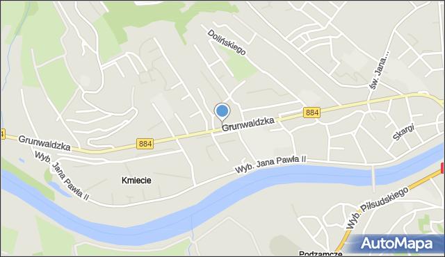 Przemyśl, Grunwaldzka, mapa Przemyśla