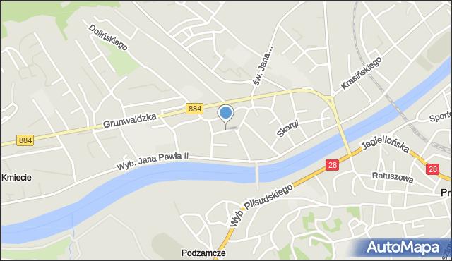 Przemyśl, Grzegorza z Sanoka, mapa Przemyśla
