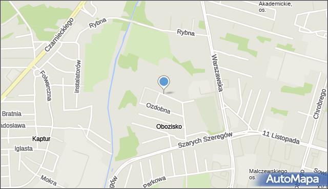 Radom, Grójecka, mapa Radomia