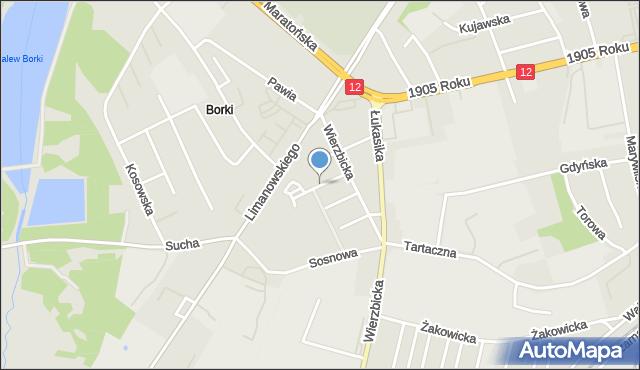 Radom, Grabowa, mapa Radomia