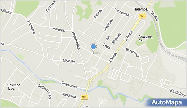 Ruda Śląska, Grodzka, mapa Rudy Śląskiej
