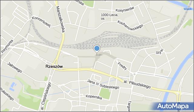 Rzeszów, Grottgera Artura, mapa Rzeszów