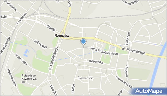 Rzeszów, Grunwaldzka, mapa Rzeszów