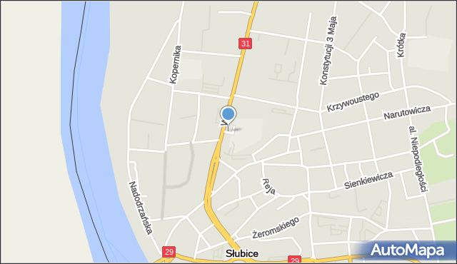 Słubice, Grabarskiego Mariana, mapa Słubice