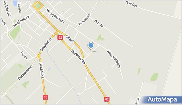 Sokołów Podlaski, Graniczna, mapa Sokołów Podlaski