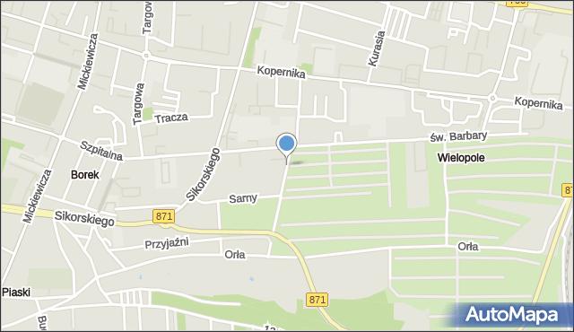 Tarnobrzeg, Gruntowa, mapa Tarnobrzegu
