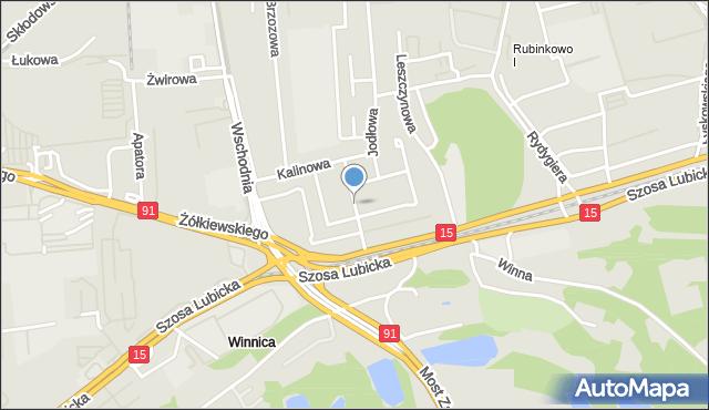 Toruń, Grabowa, mapa Torunia