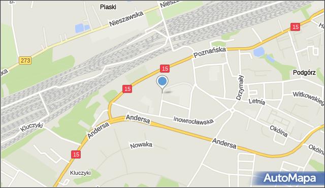 Toruń, Grabskiego Władysława, mapa Torunia