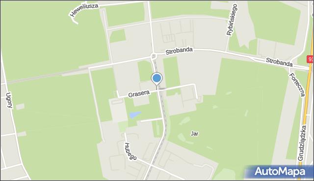 Toruń, Grasera Konrada, mapa Torunia