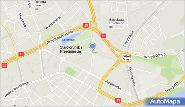 Toruń, Gregorkiewicza Kazimierza, inż. arch., mapa Torunia