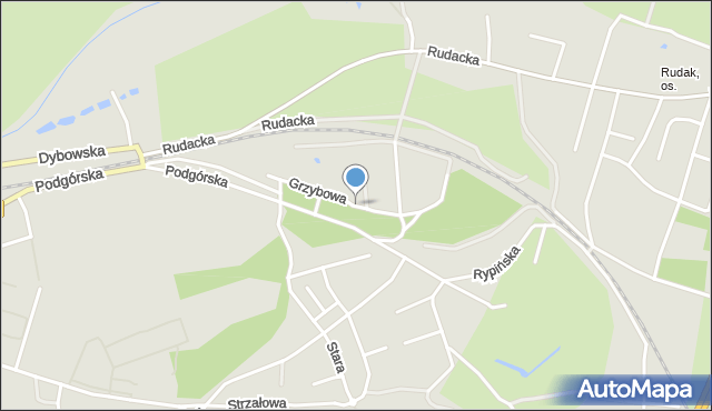 Toruń, Grzybowa, mapa Torunia