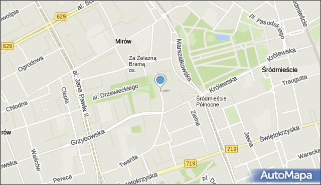 Warszawa, Graniczna, mapa Warszawy