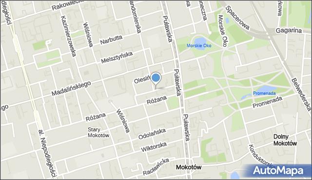 Warszawa, Grażyny, mapa Warszawy
