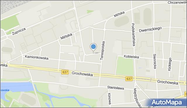 Warszawa, Groszowicka, mapa Warszawy