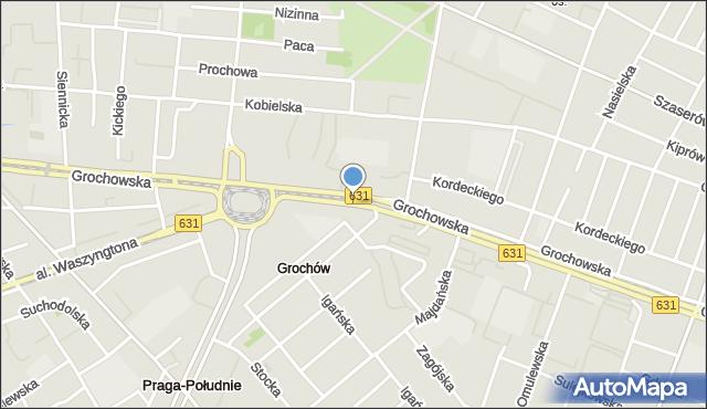 Warszawa, Grochowska, mapa Warszawy