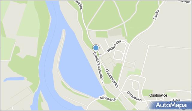Wrocław, Grobla Karłowicko-Rędzińska, mapa Wrocławia