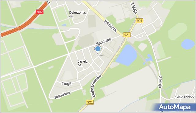 Zabrze, Grabowa, mapa Zabrza