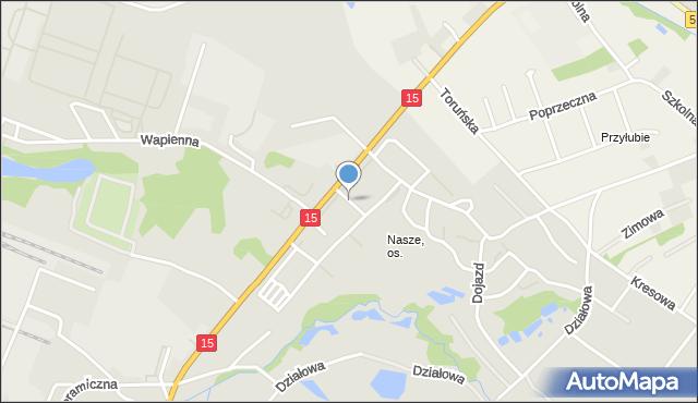 Toruń, Guliwera, mapa Torunia