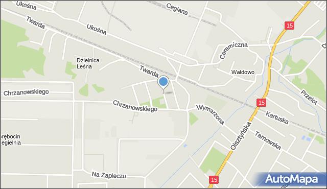 Toruń, Gustlika, mapa Torunia
