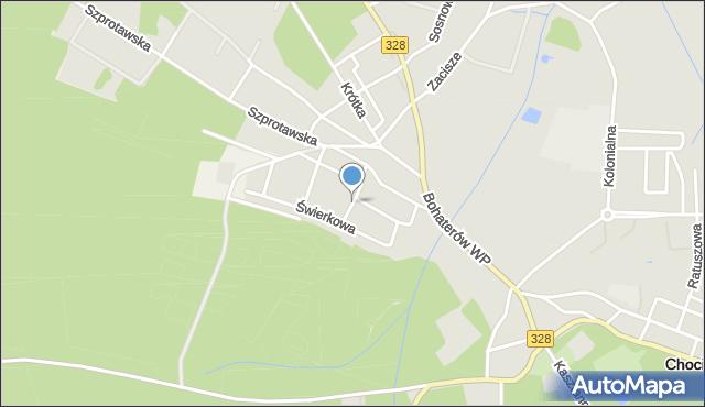 Chocianów, Gwarków, mapa Chocianów