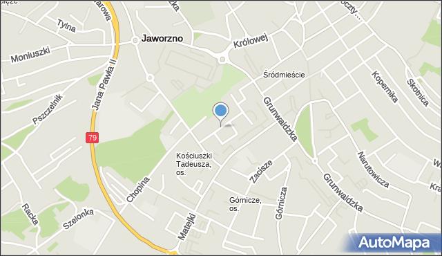 Jaworzno, Gwarków, mapa Jaworzno